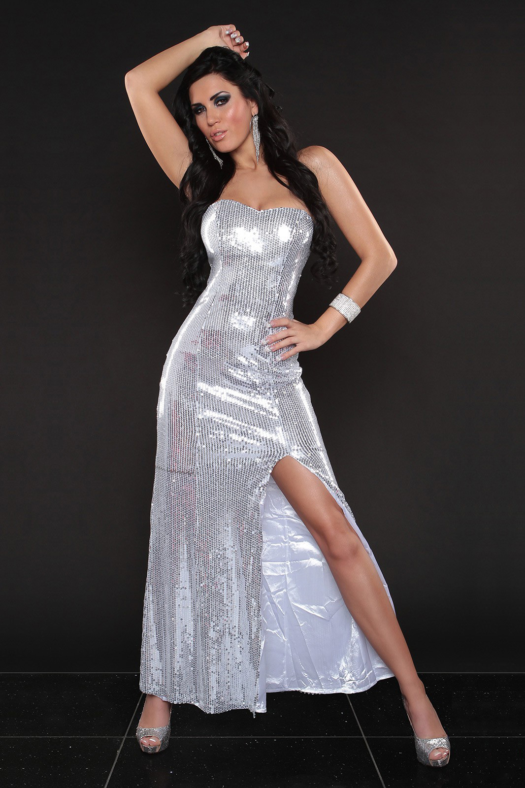 e836498a8c2e Sexy Sequin strapless dress