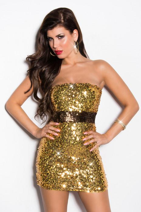 Guld Sequin Minidress