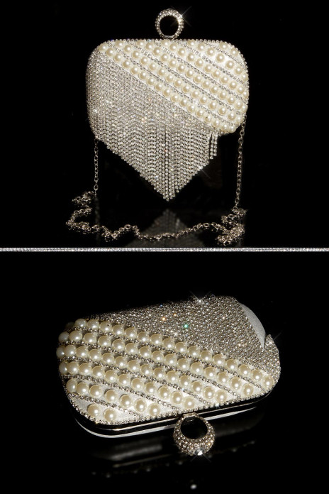 Glamour Clutch Bag with Pearls