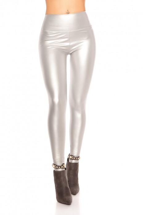 Wetlook Thermo Leggings - Silver