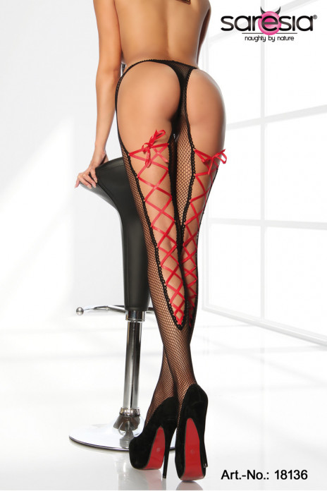Red Lace Pantyhose