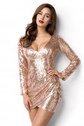 Rose Guld Sequin Dress