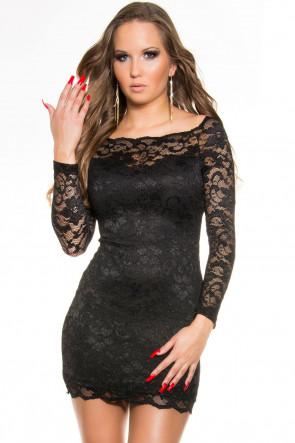 Long Sleeve Lace Minidress