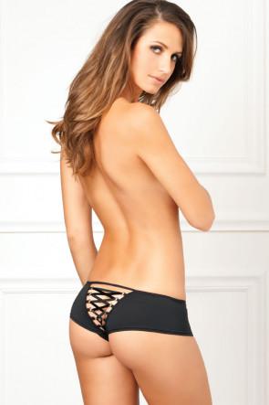 Crotchless Lace-Up Back Panty