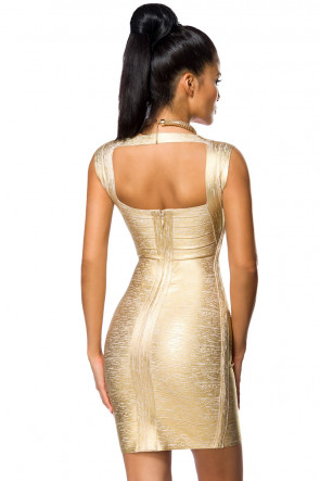 Golden Bandage Dress