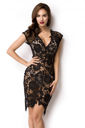Sort Flower Lace Dress