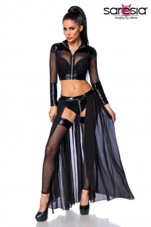 Transparent Gogo Set Black