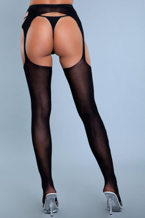 In Your Mind Garter Pantyhose