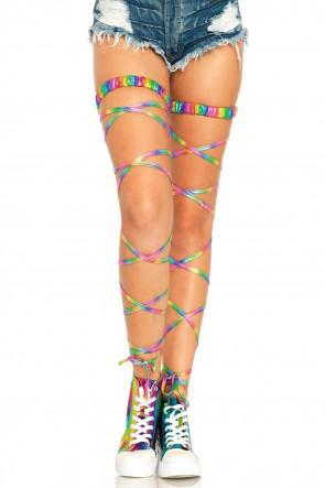 Rainbow Garter Leg Wrap