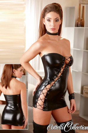Lacing Wetlook Dress