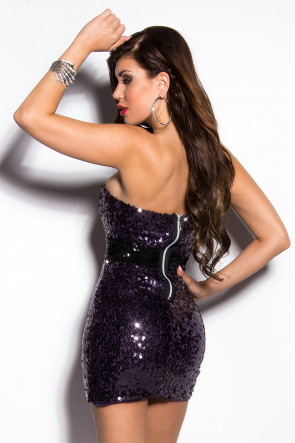 Lilla Sequin Minidress