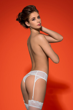 Charms Garterbelt and thong white
