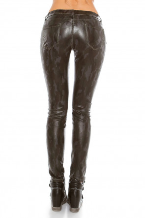 Camouflage Leatherlook Pants