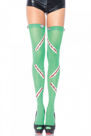 Leg Avenue Frankie Thigh Highs Green