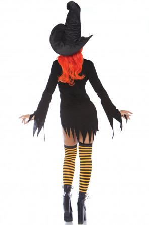 Cowl Neck Tattered Dress