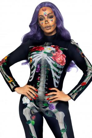 Floral Skeleton Catsuit