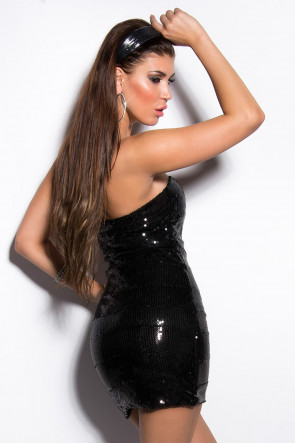 Sort Sequin Minidress