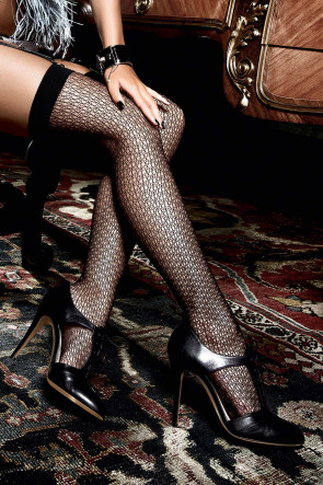 Black Net Thigh Highs