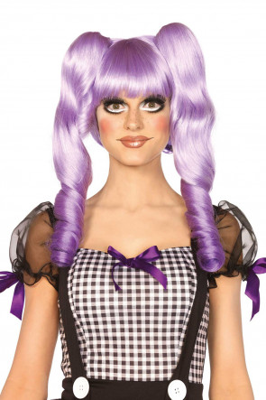 Dolly Bob Wig with Clips lavender