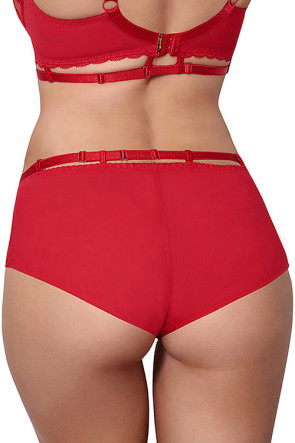 Miami Vibe Flower Lace - Briefs Red