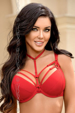 Venetian Mirror Strappy Deluxe - Harness Red