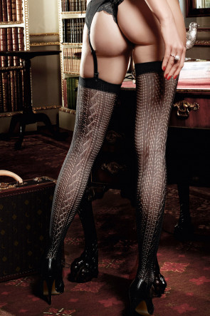 Jacquard Thigh High
