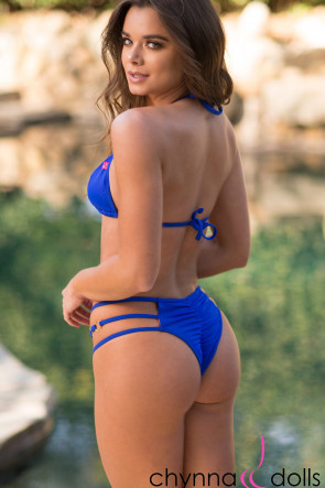 Lille Strappy Mini Loops Scrunch Royal Blue