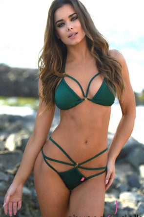 Tahiti Strappy Scrunch Hunter Green