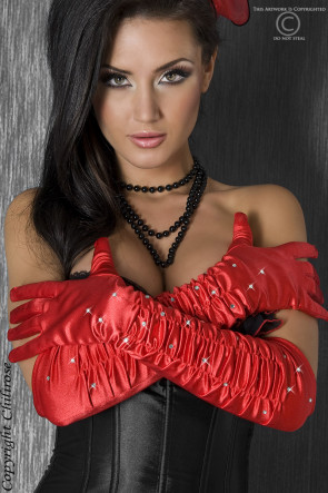 Red Strass Gloves