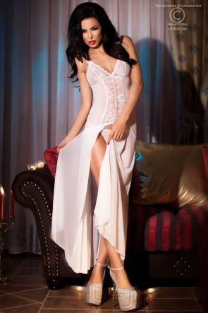 Chiffon dress with lace