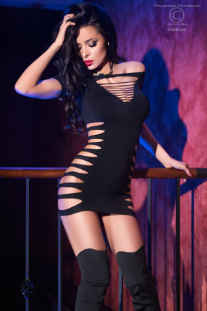 Sexet sømløs minikjole