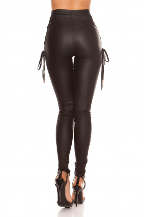 Leatherlook Pants with Lacing