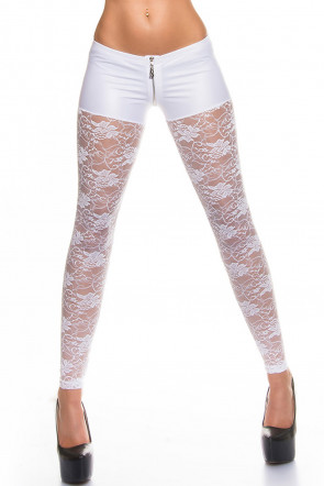White Lace Leggings
