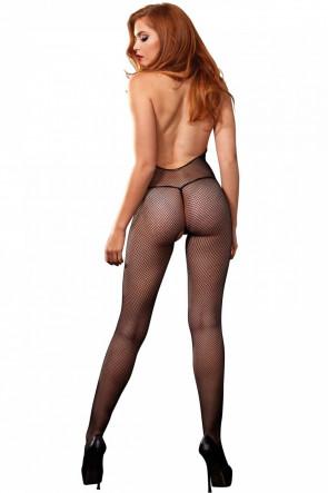Chantilly Lace Deep-V Bodystocking