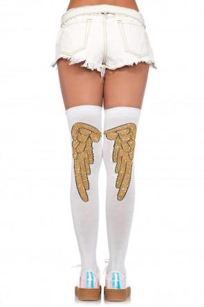 Angel Wing Over Knee Socks