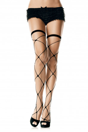 Jumbo Net Thigh Highs
