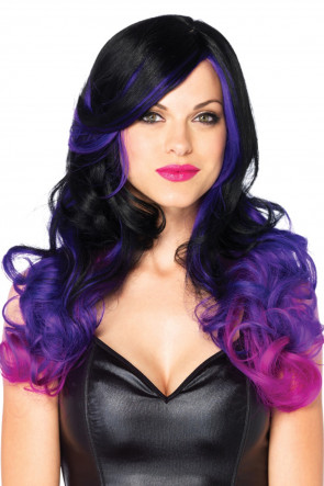 Allure Multi Color Wig Black & Purple