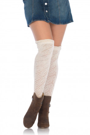 Crocheted Over the Knee Socks