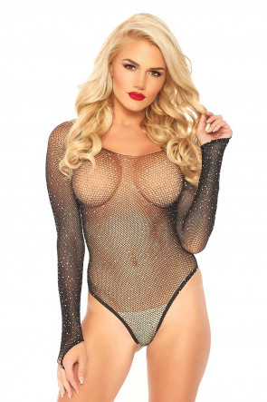 Fishnet Thong Bodysuit