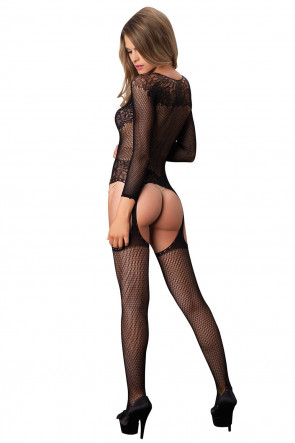 Floral Suspender Bodystocking