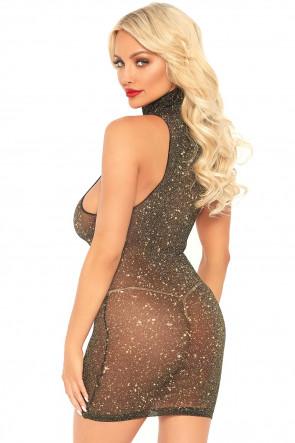 Lurex Spandex Mini Dress