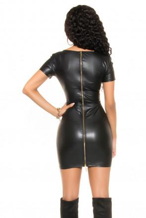 Mini kjole med 2-vejs lynlås