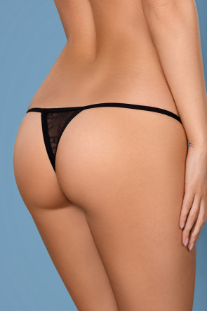 Beautiful Thong with Satin Bow & Shiny Jewel