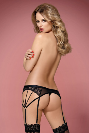 Strappy Garter Belt and Thong
