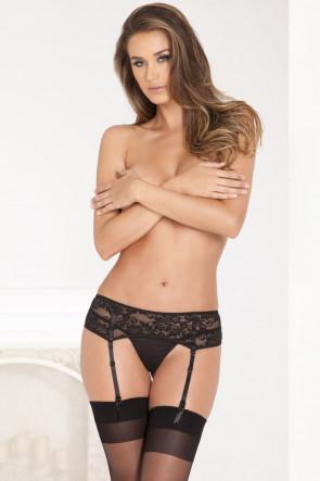 Black Lace Garter Belt
