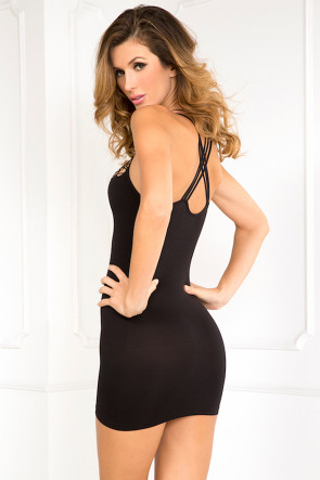 Exotic Plunge Seamless Dress
